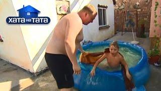 Папа разбудил сына, вкинув его в холодный бассейн!