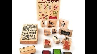 Martha Stewart Crafts Peppermint Winter Wooden Stamp Set