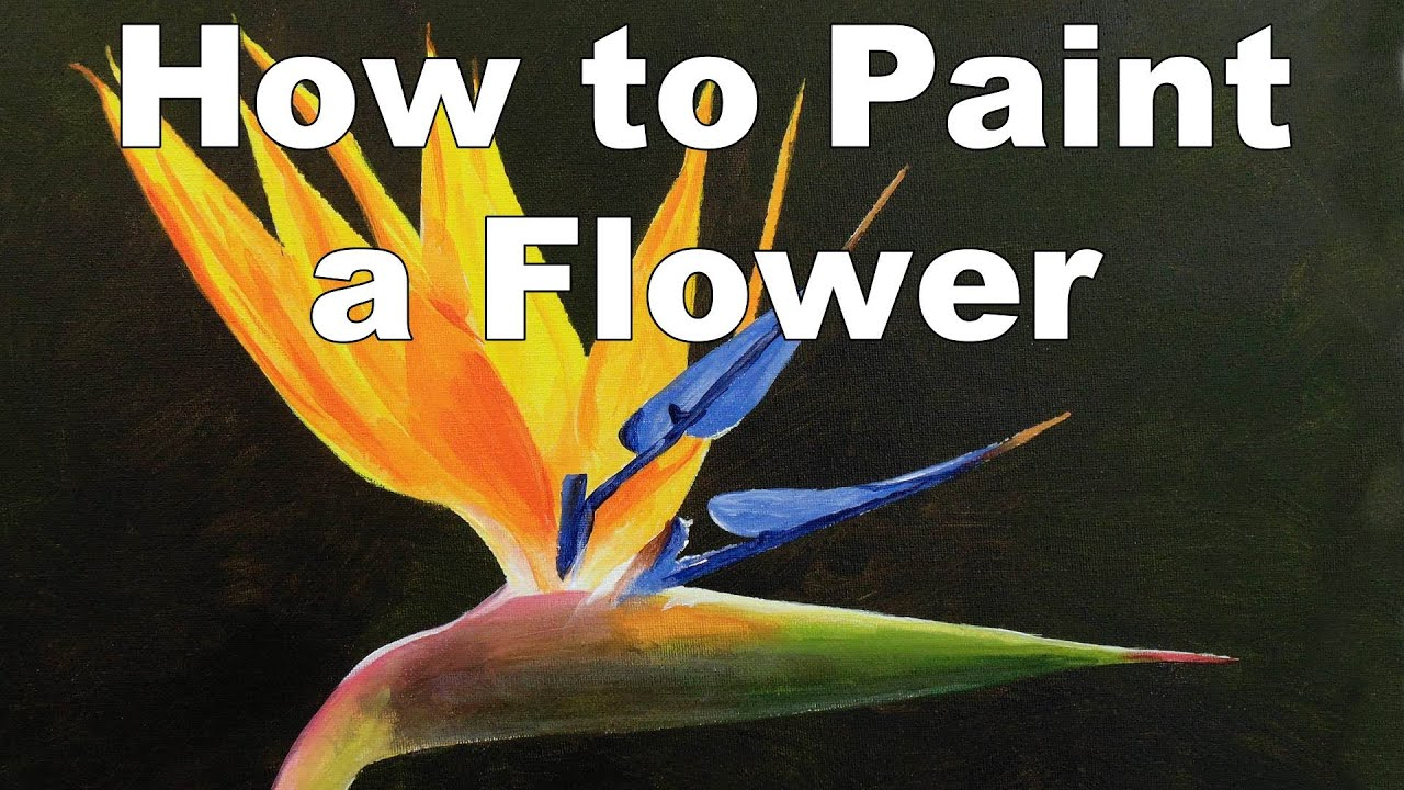 Pics For > Acrylic Paintings Of Flowers And Birds