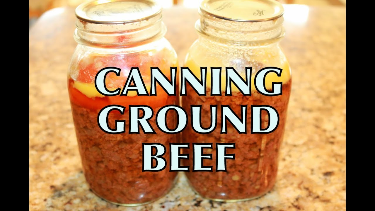 Canninng Ground Beef Bottling Meat EASY Mason Jar Pressure