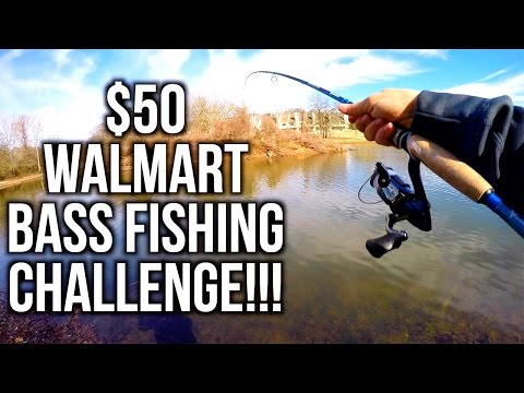 $50 WALMART BASS FISHING CHALLENGE!!! ft. Jon B and Apbassin