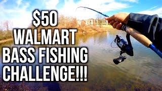 $50 WALMART BASS FISHING CHALLENGE!!! ft. Jon B and Apbassin