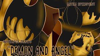 WaterFox Draws [Demon and Angel] Speedpaint