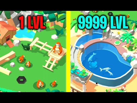 NEW ZOO & ANIMALS UNLOCKED Max Level Rare Dolphin Evolution Unlimited Money HACK In Idle Zoo Tycoon!