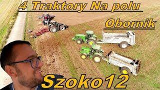 Obornik i Orka u Szoka 4 traktory na polu [Vlog#151] 2 Case VS 2 Jelenie :)