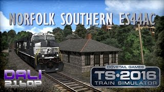 Train Simulator 2016 ES44AC Norfolk Southern PC UltraHD 4K Gameplay 60fps 2160p
