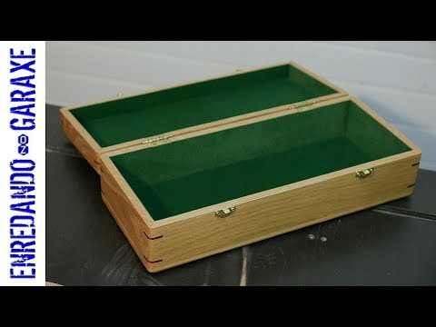 How to make a wooden box with splined miter joints