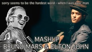 Bruno Mars - when I was your man & Elton John Mashup - Abel Jazz
