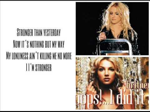 Britney Spears - Stronger Lyrics - YouTube