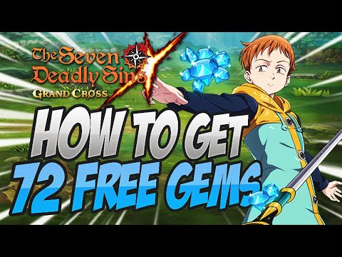 HOW TO GET 72+ GEMS FOR FREE! Seven Deadly Sins Grand Cross