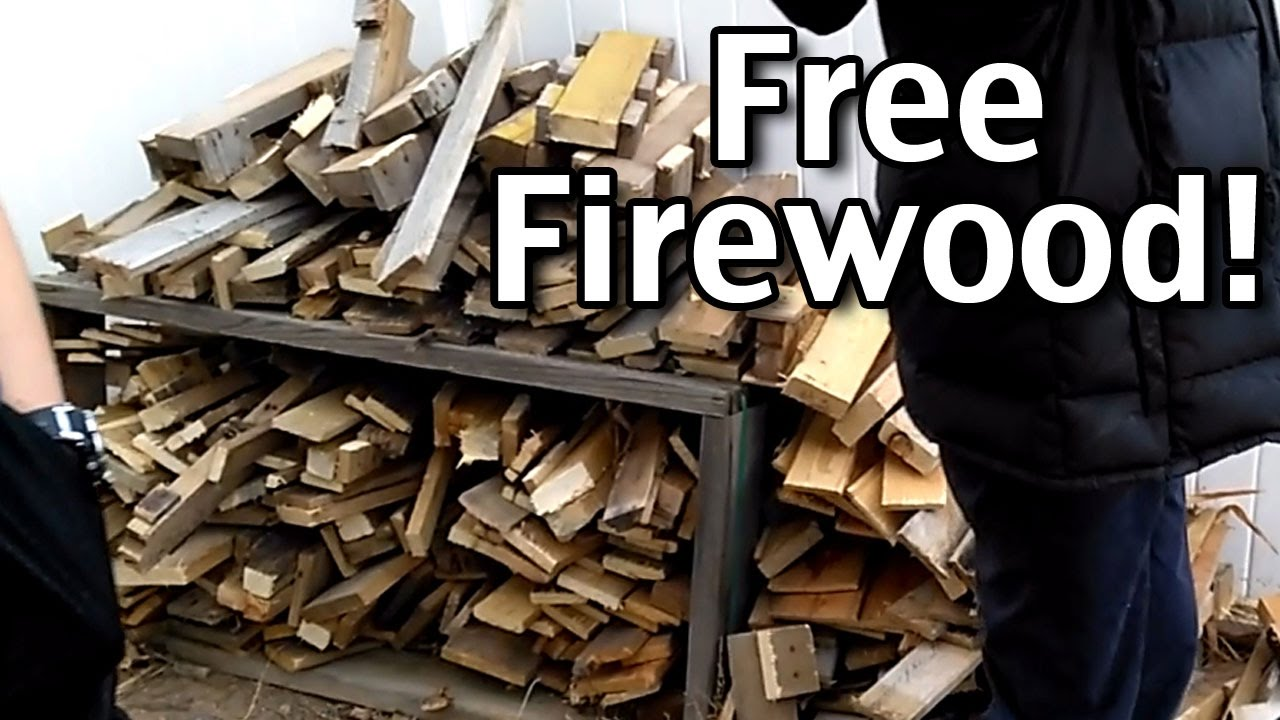 How We Get Free Firewood For Our Fire Pit Youtube