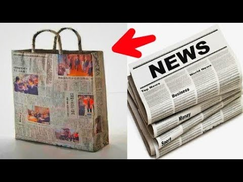 How to Make a Paper Bag with Newspaper – Paper Bag Making Tutorial with Wastage Newspaper