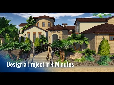 Design a Hardscape and Professional Landscape Project in only 4 Minutes