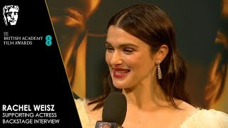 Rachel Weisz Reacts to Winning Supporting Actress for The Favourite | EE BAFTA Film Awards 2019
