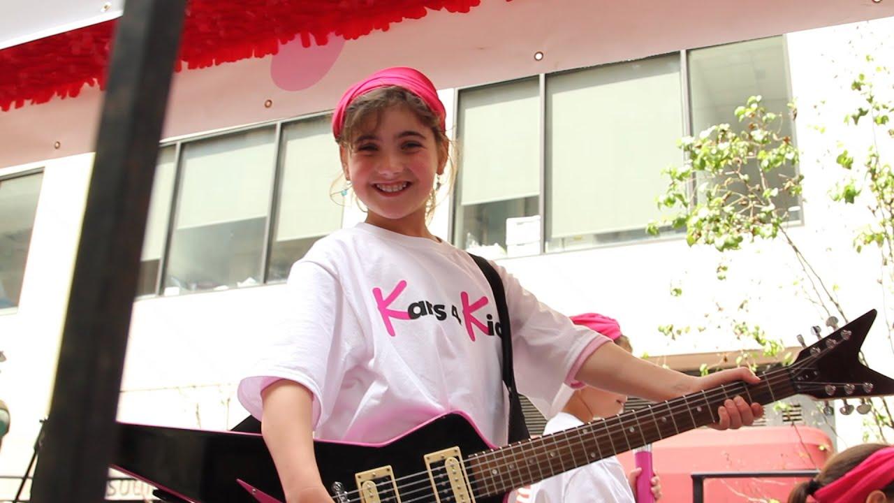 the kars4kids band at the israeli day parade 2015