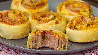 Объедение, которое можно приготовить всего за 30 минут! Слойки с ветчиной и сыром. | Appetitno.TV