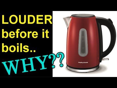 Why is a kettle louder BEFORE it boils?