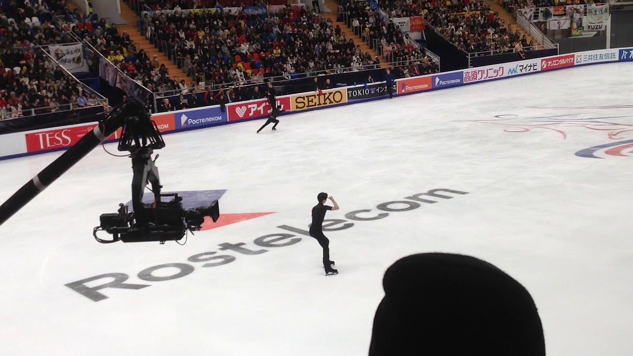 Yuzuru Hanyu Rostelecom 17 11 2018 fall and injury