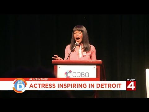 Live in the D: Actress Angela Bassett gave some inspiring words for women in Detroit