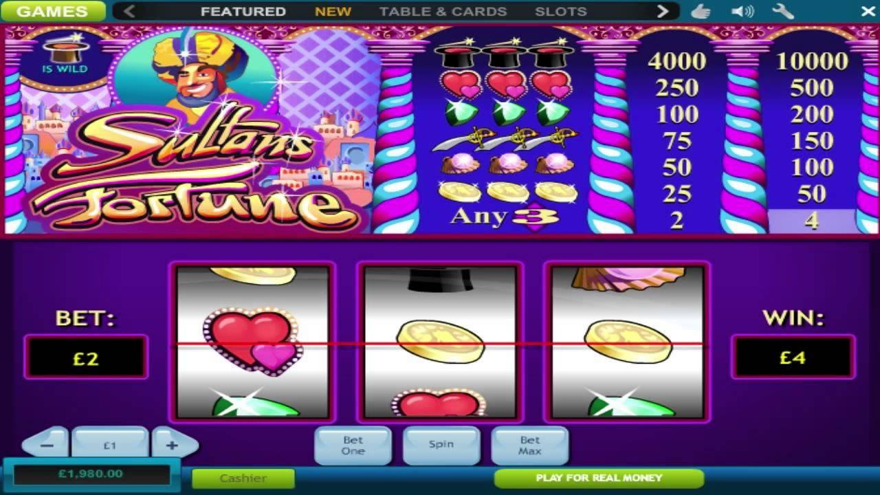 Sultans Fortune Slot Machine