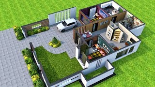 4 Bedroom Modern House Plan With Exterior Walk Through || 2020