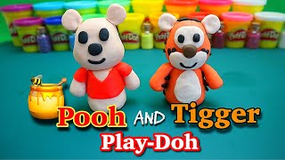 How to make super cute and easy Winnie the Pooh and Tigger Playdoh / step by step tutorial.