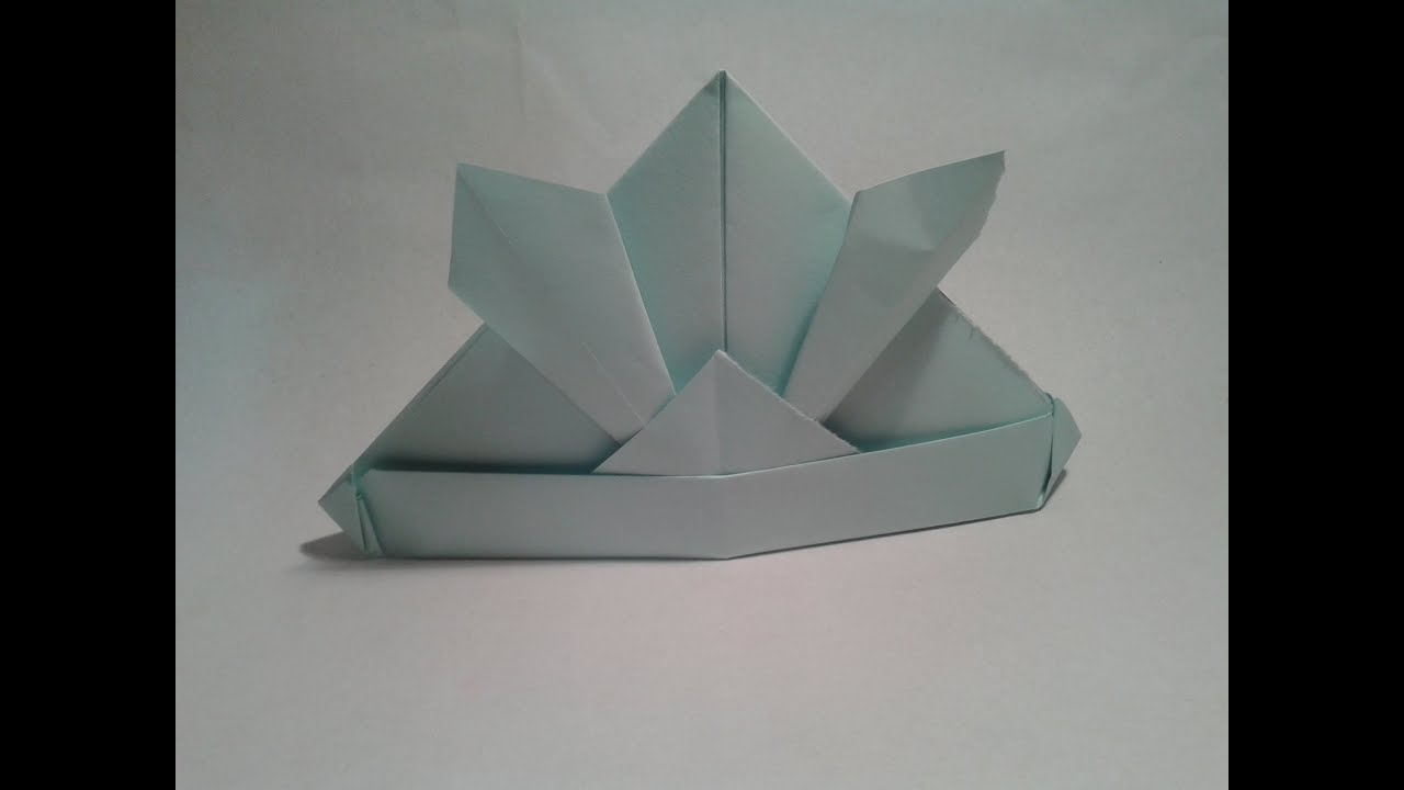Origami - How to make an easy origami samurai hat (origami ... - photo#8
