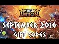 Magic Legion - Age of Heroes Gift Codes September 2016