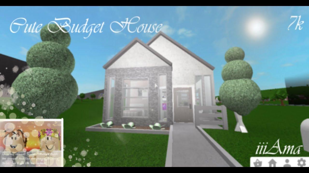 Cute Budget House 7k Speedbuild Roblox Bloxburg Youtube