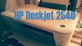 HP Deskjet 2540 Unboxing und Testseitendruck
