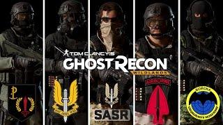 Ghost Recon Wildlands: Custom Special Forces Outfits: US Army, GSG-9, Spetsnaz, Irish ARW, SAS