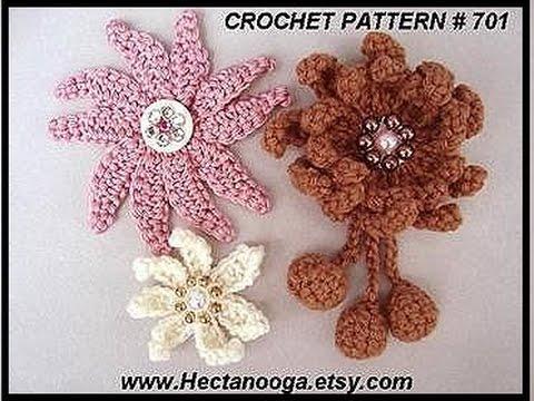 Diy Crochet A Multi Petal Flower How To Crochet A Brooch Or Hat Pin