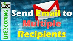Send Email to Multiple Recipients using Gmail