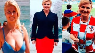 The most beautiful president in the world a football fan President Croatian