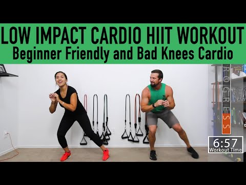 LOW IMPACT CARDIO HIIT WORKOUT Beginner friendly and good for bad knees workout