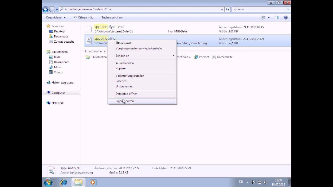 Telefonische Aktivierung Windows 7