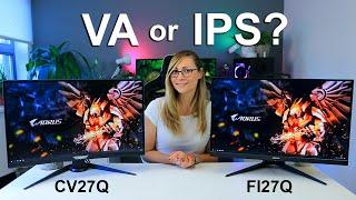 Curved VA or Flat IPS?  - Aorus FI27Q & CV27Q Gaming Monitors Reviewed (27' 1440p 165Hz HDR)