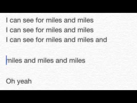 The Who: I Can See for Miles Lyrics
