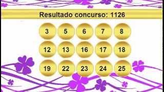 sorteio resultado lotofacil 1126   Palpite 1127