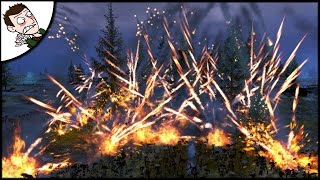 EMPIRE ARTILLERY v 9000 ZOMBIES BATTLE - FIREWORKS SPECIAL! Total War WARHAMMER Gameplay