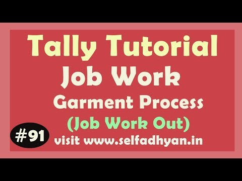 Job Work out order in Tally erp 9 | Job order in – Material in / out in tally erp 9 by Manoj Sir