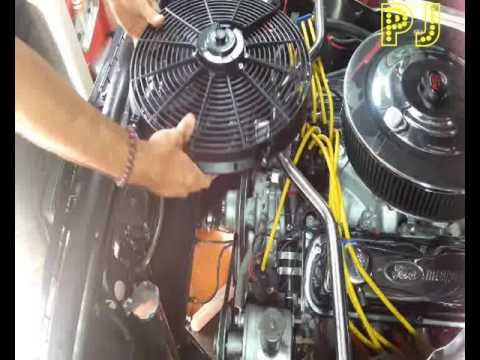 Electric Fan Conversion Enagine Bay Mustang 1966