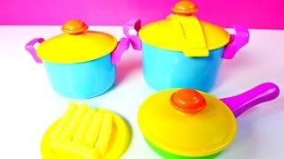 Juguetes Cocinita de Juguete Con Comidita Falsa  Cookware Playset Mundo de Juguetes thumbnail