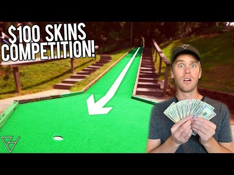 $100 Per Hole Mini Golf Skins Competition! - My Best Hole In One!