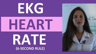 EKG Rhythm  | How to Count the Heart Rate on EKG strip 6 (six) Second Rule