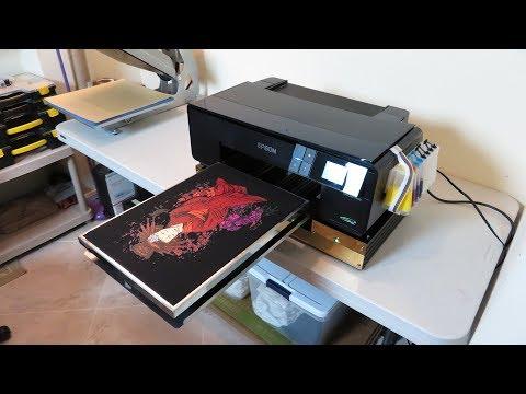 Epson P600 Nikko DTG Printing On Black T-Shirt - YouTube
