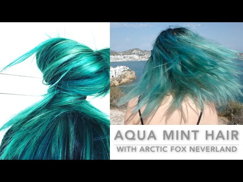 Lucebristol Aqua Mint Hair With Arctic Fox Neverland