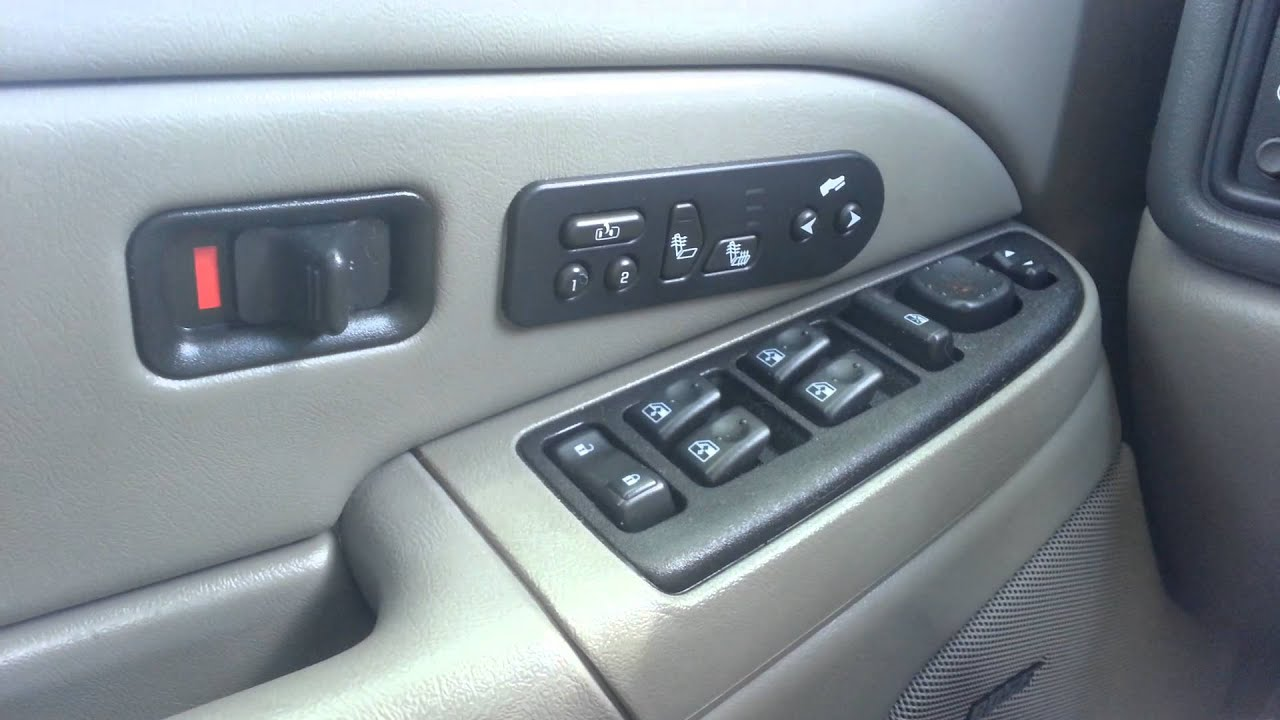 2005 Avalanche Heated Seat Problem Youtube