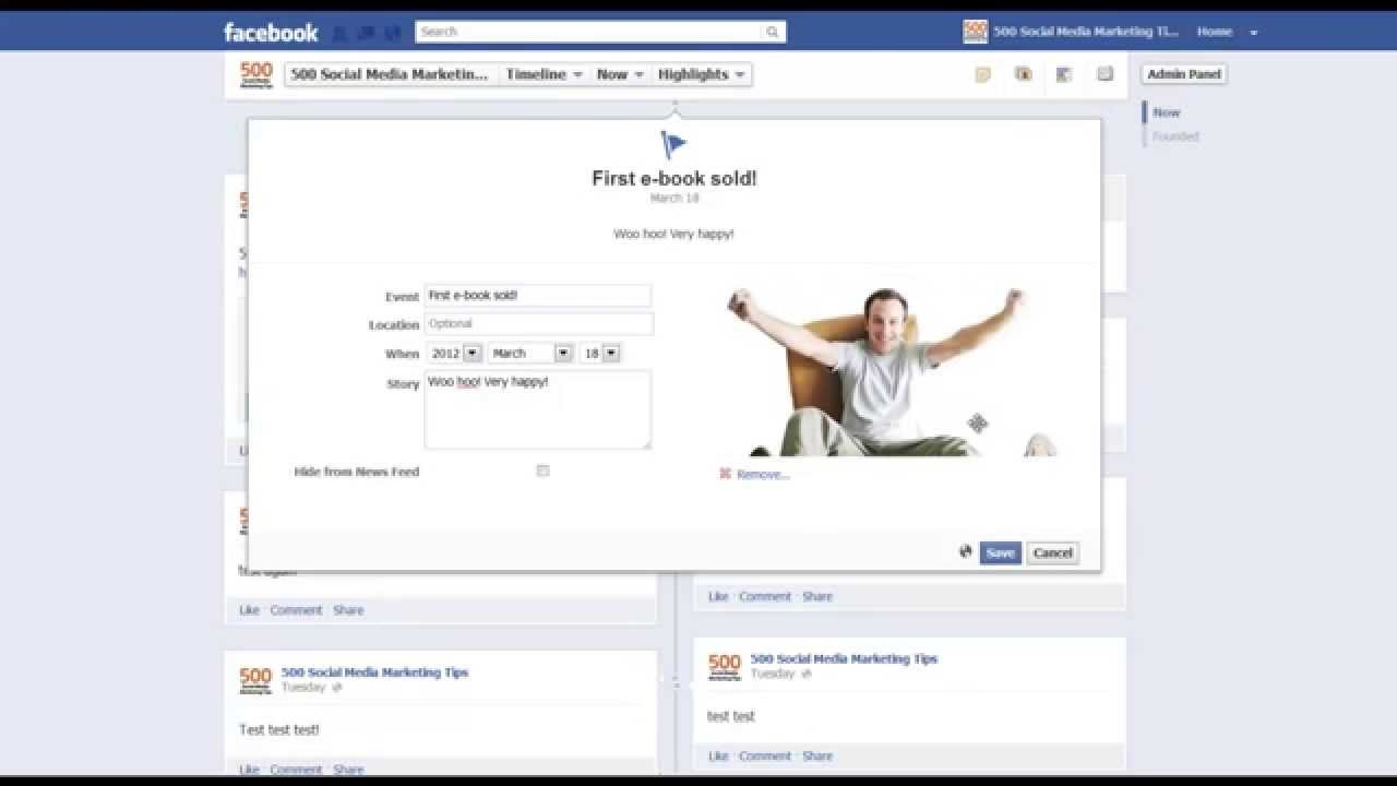 How To Add Milestones Life Events To Facebook Timeline