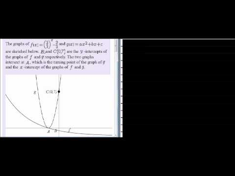 Exam type question Parabola and Exponential function I